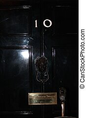 Downing St. Street sign in the City of Westminster in London England home Prime minister residence