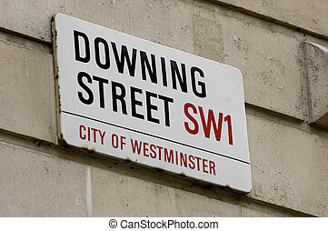 Downing Street - Street sign at the Prime Ministers office