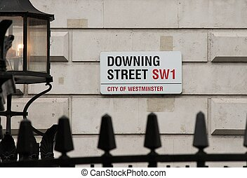 downing ulica, w, westminster, londyn