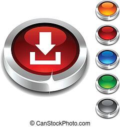 download, 3d, button.