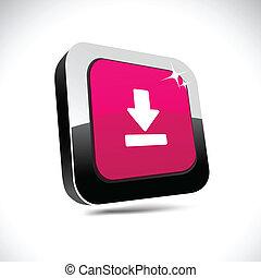 Download 3d square button.