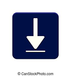 Download app button vector red and blue