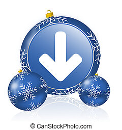 Download arrow blue christmas balls icon