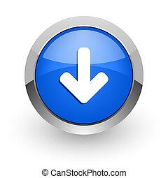 download arrow blue glossy web icon