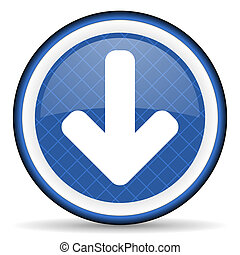 download arrow blue icon arrow sign