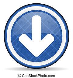download arrow blue icon arrow sign