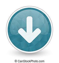 Download arrow brillant crystal design round blue web icon.