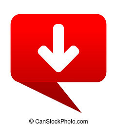Download arrow bubble red icon