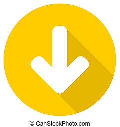 download arrow flat design yellow web icon