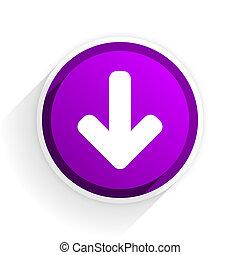 download arrow flat icon