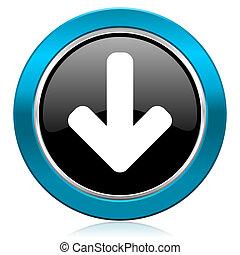 download arrow glossy icon arrow sign