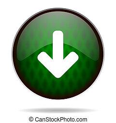 download arrow green internet icon