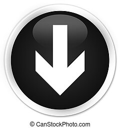 Download arrow icon black glossy round button