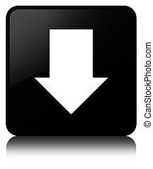 Download arrow icon black square button