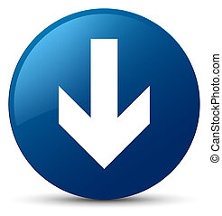 Download arrow icon blue round button