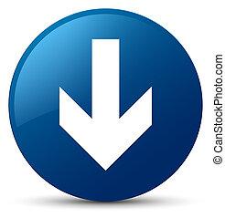 Download arrow icon blue round button