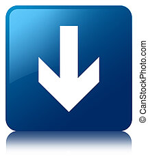 Download arrow icon blue square button
