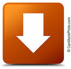 Download arrow icon brown square button