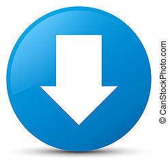 Download arrow icon cyan blue round button