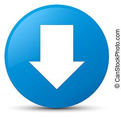 Download arrow icon cyan blue round button