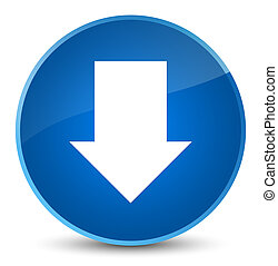Download arrow icon elegant blue round button