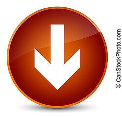 Download arrow icon elegant brown round button