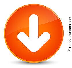 Download arrow icon elegant orange round button