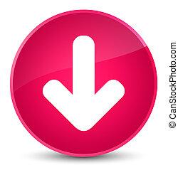 Download arrow icon elegant pink round button
