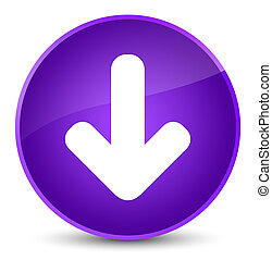Download arrow icon elegant purple round button