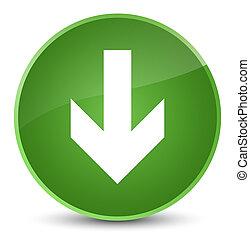 Download arrow icon elegant soft green round button