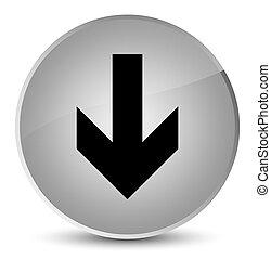 Download arrow icon elegant white round button