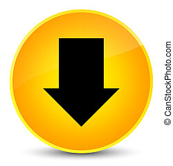 Download arrow icon elegant yellow round button