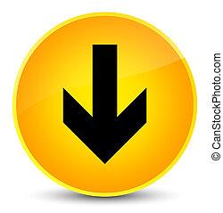 Download arrow icon elegant yellow round button