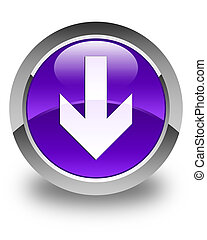Download arrow icon glossy purple round button