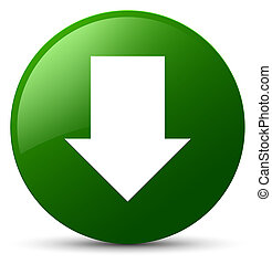 Download arrow icon green round button
