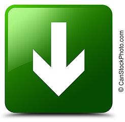 Download arrow icon green square button