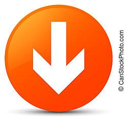 Download arrow icon orange round button