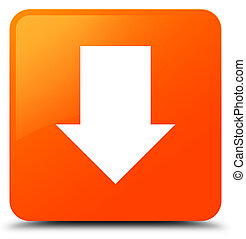 Download arrow icon orange square button
