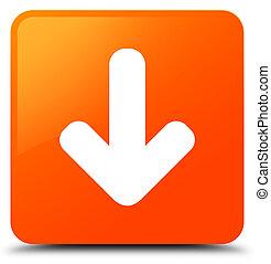 Download arrow icon orange square button