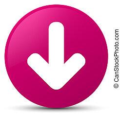 Download arrow icon pink round button