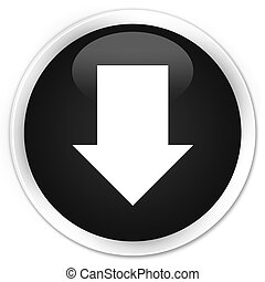 Download arrow icon premium black round button