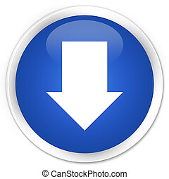 Download arrow icon premium blue round button