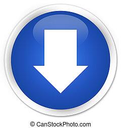 Download arrow icon premium blue round button