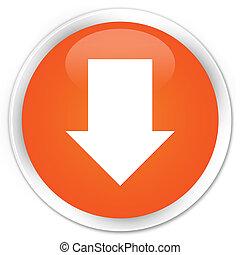 Download arrow icon premium orange round button