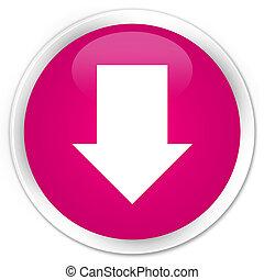 Download arrow icon premium pink round button