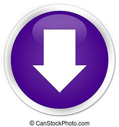 Download arrow icon premium purple round button