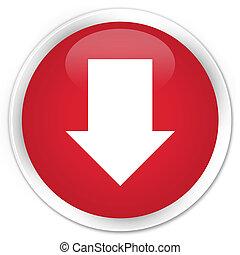 Download arrow icon premium red round button