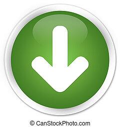 Download arrow icon premium soft green round button