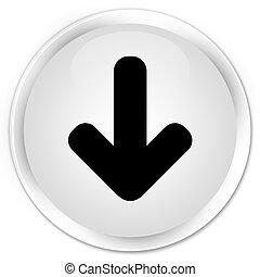 Download arrow icon premium white round button