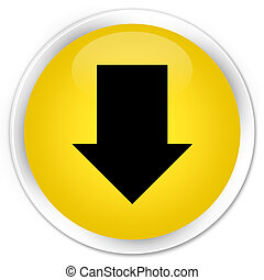 Download arrow icon premium yellow round button